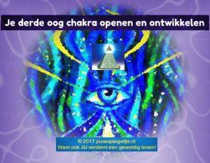 Derde oog chakra openen en ontwikkelen cover afbeelding bij artikel © 2017 jouwspiegeltje.nl