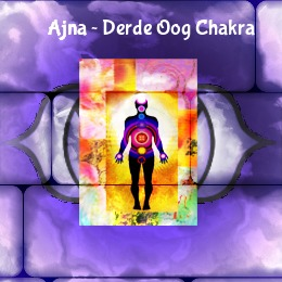 De kleur van je derde oog chakra is indigo, op de afbeelding een persoon met energie om zich heen en een indigo kleur op de achtergrond.
