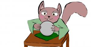 Een goede paragnost kent de details, op de afbeelding een kat die in een glazen bol kijkt
