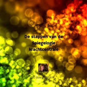 De stappen van de Spiegelogie krachtcentrale helpen je om weer een krachtige energie van acceptatie te ervaren, op de afbeelding gekristalliseerde energie in mooie kleuren, zo ziet jouw energie eruit als je de krachtcentrale hebt gedaan!